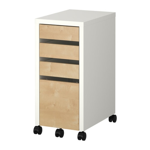 MICKE Drawer unit/drop file storage IKEA Same height as MICKE desks.   Extend your desk and get an extra work surface.