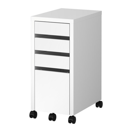 MICKE Drawer unit/drop file storage IKEA Drawer stops prevent the drawers from being pulled out too far.