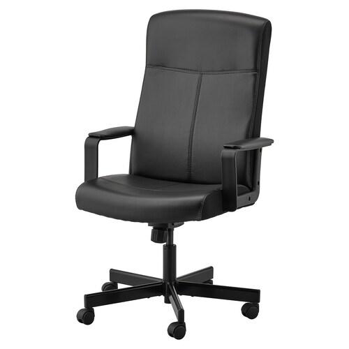 "MILLBERGET swivel chair Bomstad black 242 lb 8 oz 25 5/8 "" 48 3/8 "" 20 1/2 "" 17 3/4 "" 17 3/4 "" 22 7/8 """