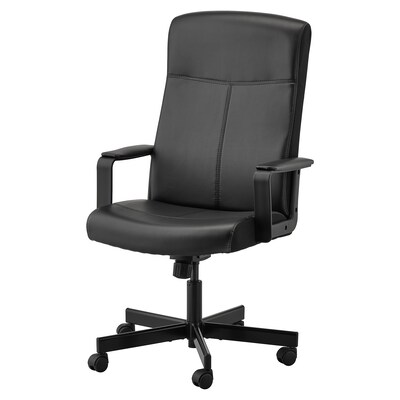 "MILLBERGET swivel chair Bomstad black 242 lb 8 oz 25 5/8 "" 48 3/8 "" 20 1/2 "" 17 3/4 "" 17 3/4 "" 22 7/8 """