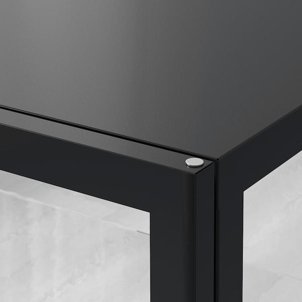 """MILSBO Glass-door cabinet, anthracite, 39 3/4x39 3/8 """""""