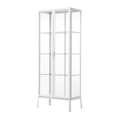 Impressive Ikea Glass Door Cabinet Interior