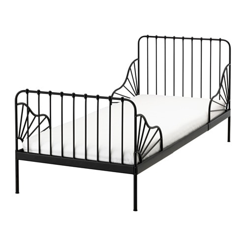 MINNEN Ext bed frame with slatted bed base IKEA Extendable, so it can  ~ Ikea Toddler Bed Extendable