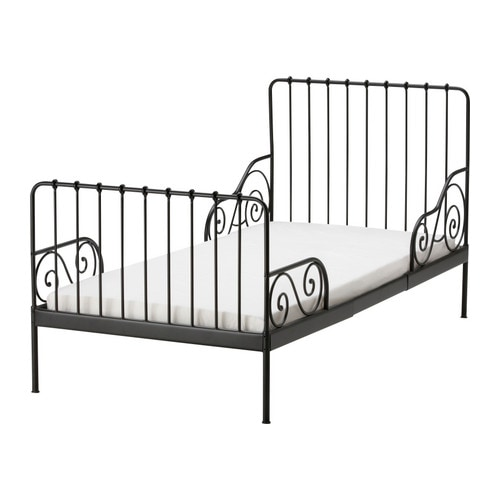 MINNEN Ext bed frame with slatted bed base IKEA Extendable.    Length can be adjusted as the child grows taller.