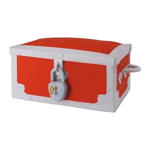 MINNEN Toy box IKEA Easy to assemble/disassemble by simply closing/opening the zipper at the bottom.