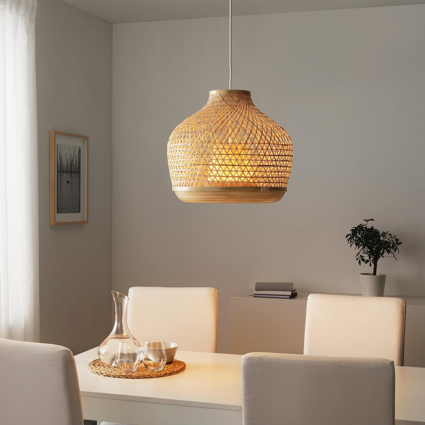 Misterhult Pendant Lamp Bamboo 18 Ikea