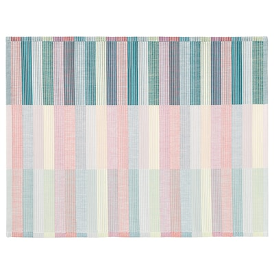 MITTBIT Place mat, pink turquoise/light green, 18x14 ""