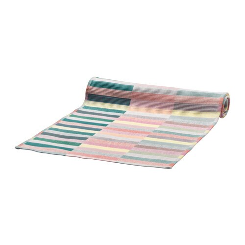 MITTBIT Table runner, pink turquoise, light green
