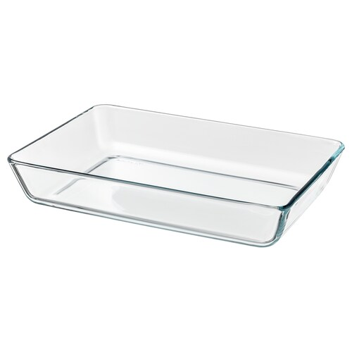 """MIXTUR oven/serving dish clear glass 14 """" 10 """""""