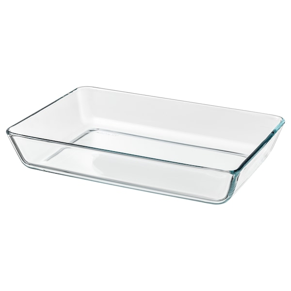 """MIXTUR Oven/serving dish, clear glass, 14x10 """""""