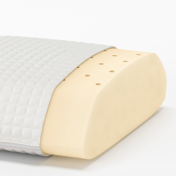 MJÖLKKLOCKA Ergonomic pillow, side/back sleeper, Queen
