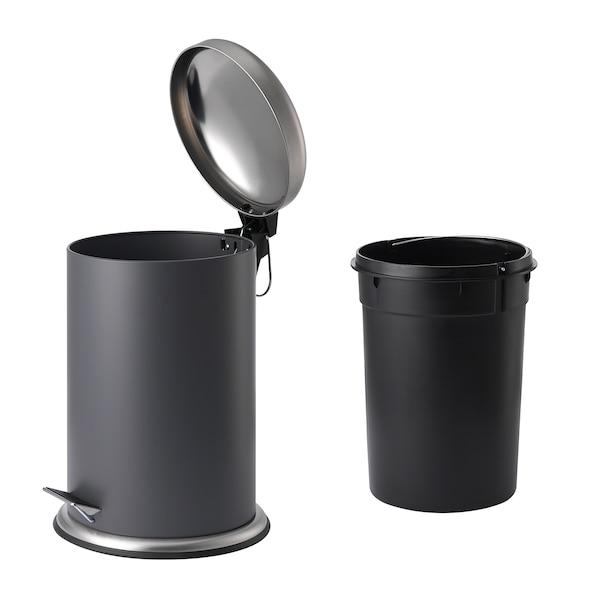 MJÖSA Pedal bin, dark gray, 3 gallon