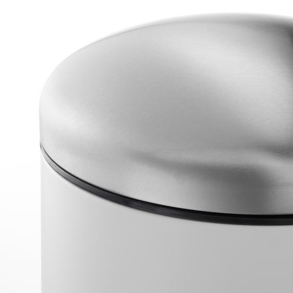 MJÖSA Pedal bin, white, 3 gallon