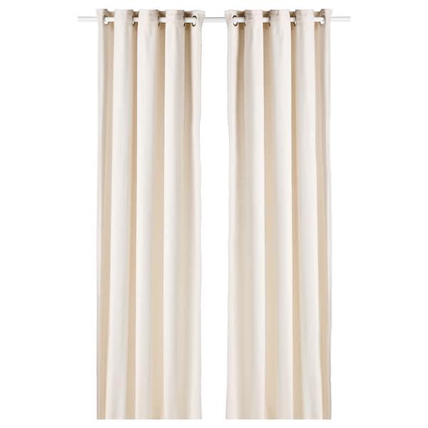 "MOALINA Curtains, 1 pair, beige, 57x98 """