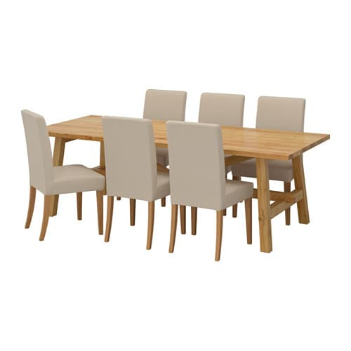 MÖckelby Henriksdal Table And 6 Chairs Ikea