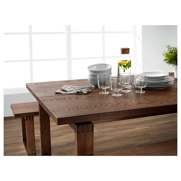 Fantastic Bench Morbylanga Oak Veneer Brown Stained Gmtry Best Dining Table And Chair Ideas Images Gmtryco