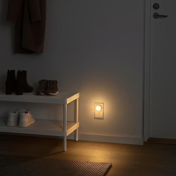 MÖRKRÄDD LED nightlight with sensor, white