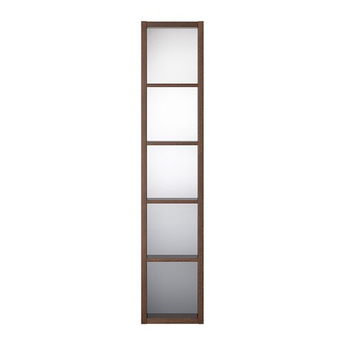 molger mirrored shelf unit dark brown ikea