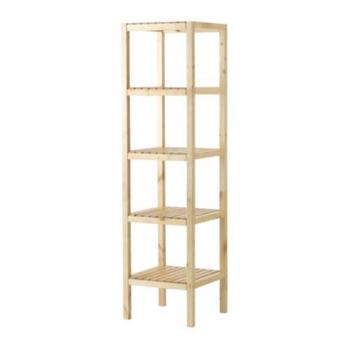MOLGER Shelf unit, birch birch 14 5/8x55 1/8