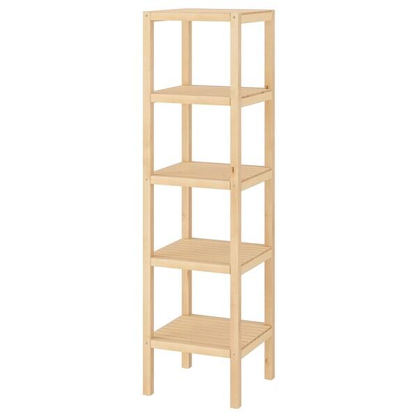 "MOLGER shelf unit birch 14 5/8 "" 14 5/8 "" 55 1/8 """