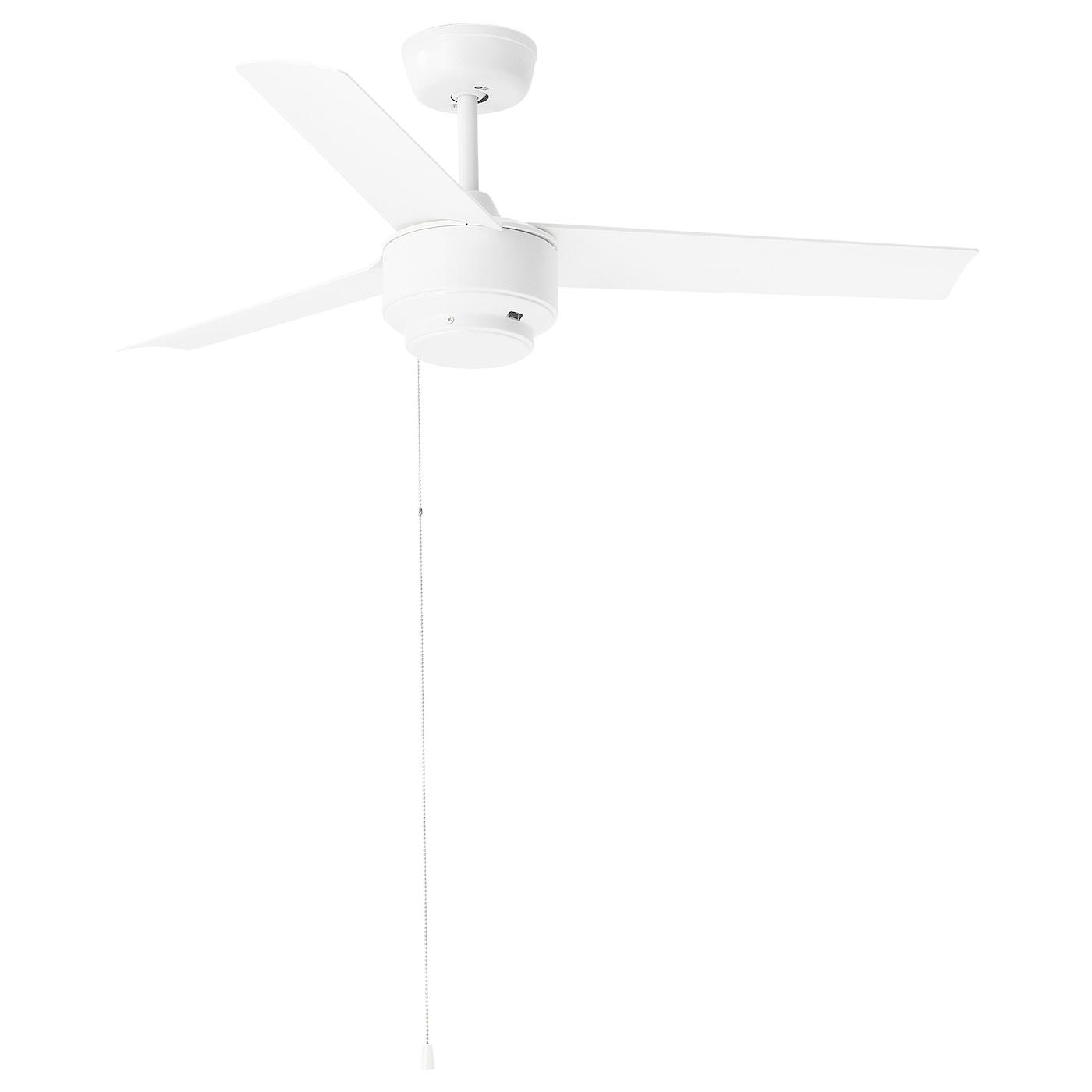 Molnighet 3 Blade Ceiling Fan Plastic White Ikea