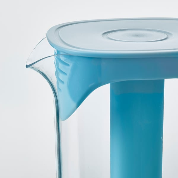 MOPPA Pitcher with lid, blue/transparent, 57 oz