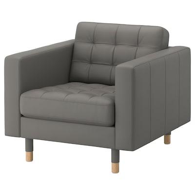 MORABO Armchair, Grann/Bomstad gray-green/wood