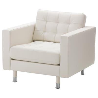 MORABO Armchair, Grann/Bomstad white/metal