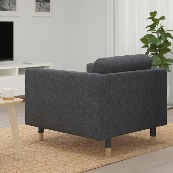MORABO Armchair, Gunnared dark gray/wood