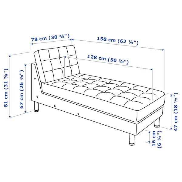 MORABO Chaise, add-on unit, Grann/Bomstad white/metal