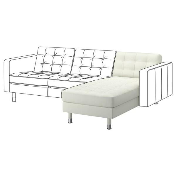 "MORABO chaise, add-on unit Grann/Bomstad white/metal 30 3/4 "" 62 1/4 "" 31 7/8 "" 50 3/8 "" 18 1/2 """