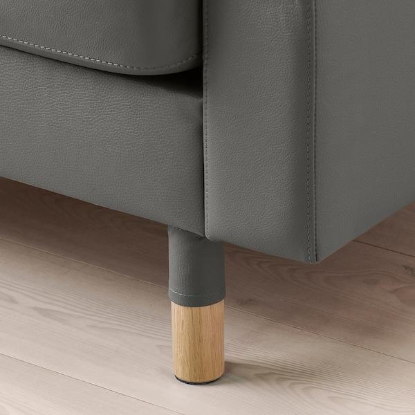 MORABO Sectional, 5-seat corner, Grann/Bomstad gray-green/wood