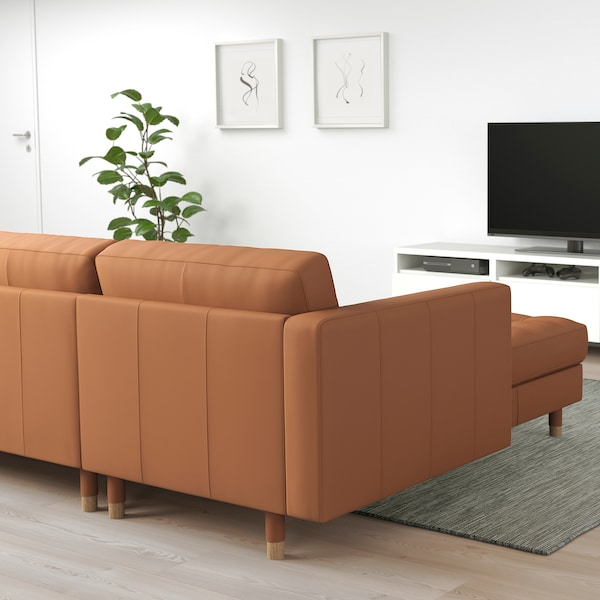 MORABO Sectional, 5-seat, with chaise/Grann/Bomstad golden brown/wood