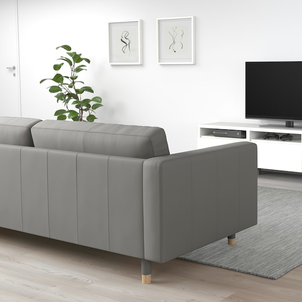 MORABO Sectional, 5-seat, with chaise/Grann/Bomstad gray-green/wood