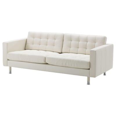 MORABO Sofa, Grann/Bomstad white/metal