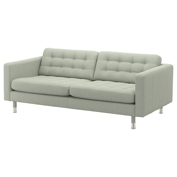 MORABO Sofa, Gunnared light green/metal