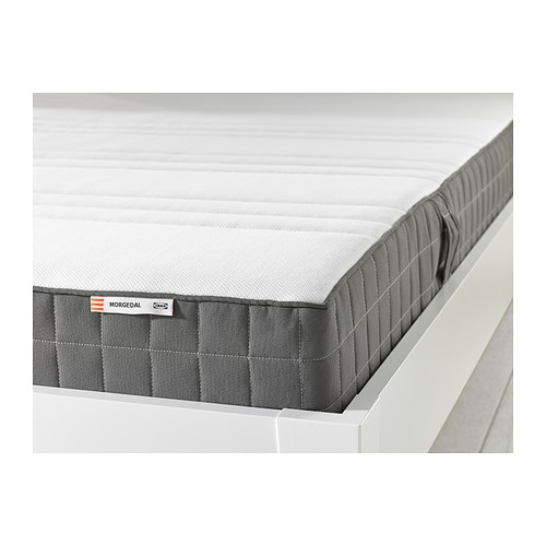 Morgedal foam mattress twin firm dark gray ikea for Matelas 180x200