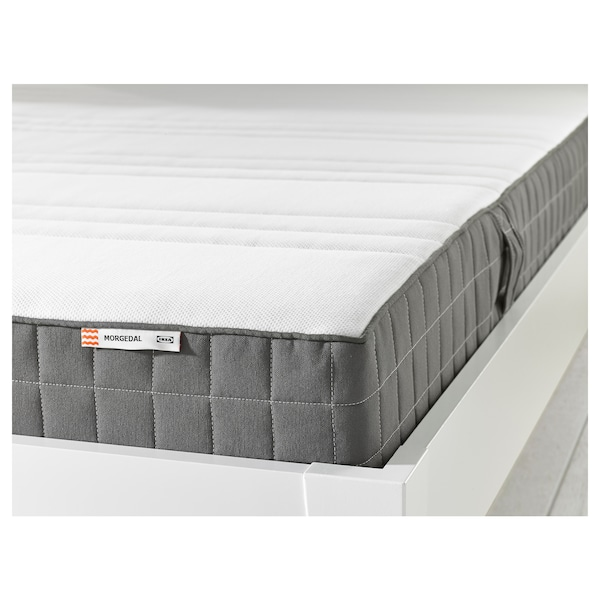 MORGEDAL Foam mattress, medium firm/dark gray, Queen