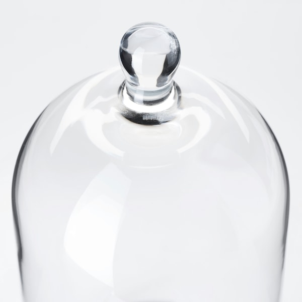 """MORGONTIDIG glass dome clear glass 7 """" 4 """""""