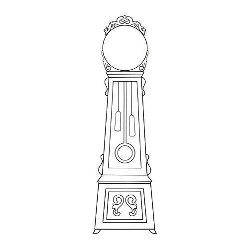 MORTORP Decorative stickers IKEA You can create a personal grandfather clock by framing an ordinary wall clock with the decorative sticker.