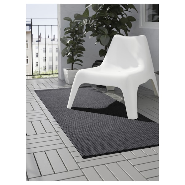 "MORUM Rug flatwoven, in/outdoor, dark gray, 2 ' 7 ""x6 ' 7 """