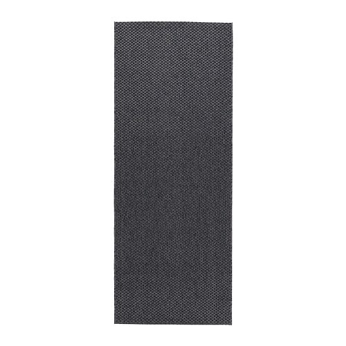 MORUM Rug flatwoven, in/outdoor, indoor/outdoor dark gray