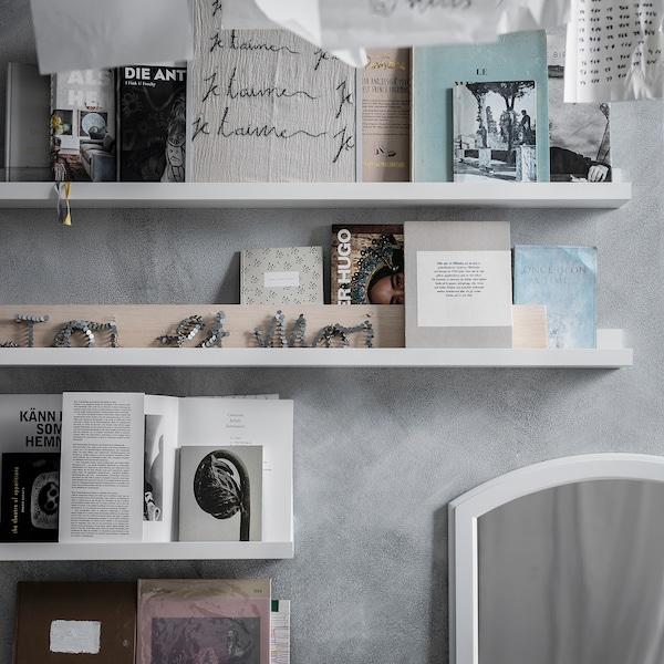 """MOSSLANDA Picture ledge, white, 45 1/4 """""""