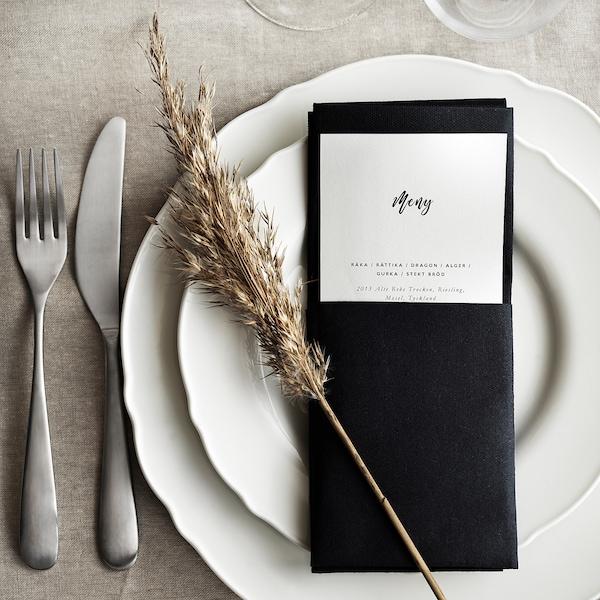 """MOTTAGA Paper napkin, black, 15x15 """""""