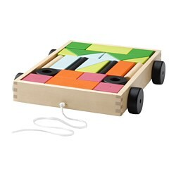 MULA - 24 building blocks with wagon
