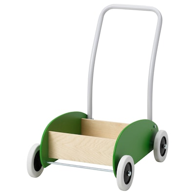 "MULA toddle wagon/walker green/birch 15 3/4 "" 11 3/4 "" 18 1/8 """