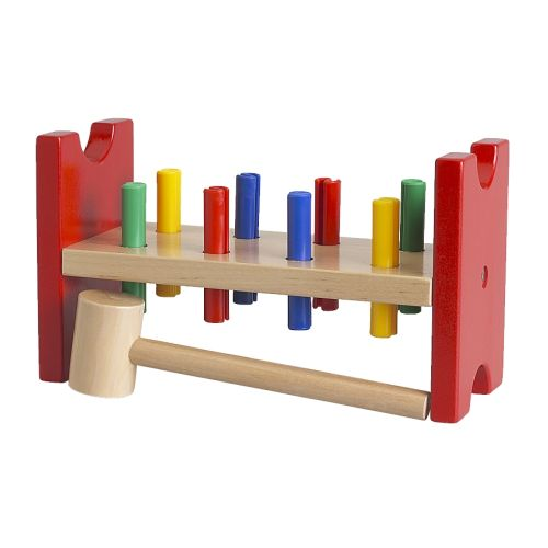 MULA Toy hammering block IKEA Helps the child develop fine motor skills and hand/eye co-ordination.