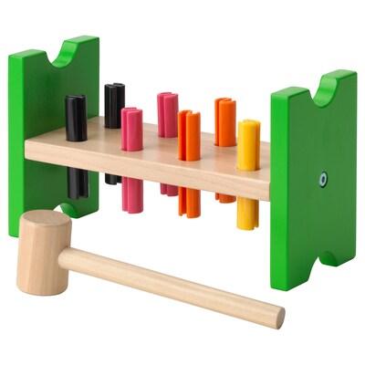 """MULA toy hammering block multicolor 9 1/2 """" 3 7/8 """" 5 1/2 """""""