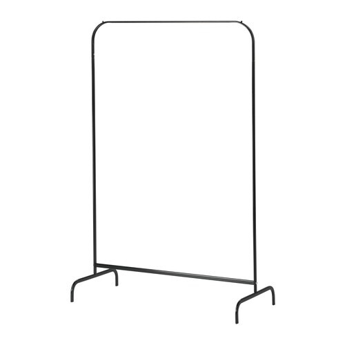Mulig clothes rack black ikea for Covered clothes rack ikea