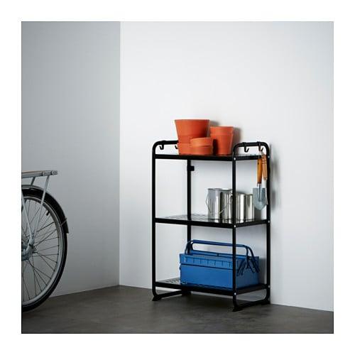 MULIG Shelf unit, black black 22 7/8x13 3/8x35 3/8